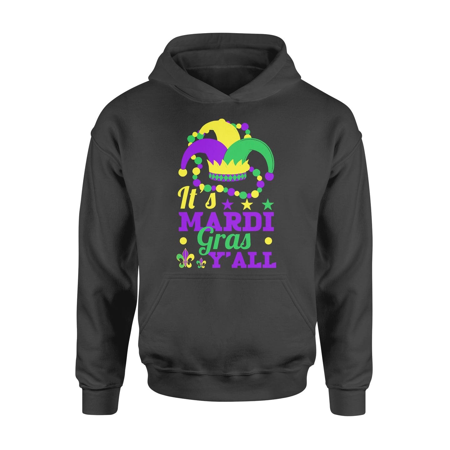 It's Mardi Gras Y'all - Standard Hoodie Apparel S / Black