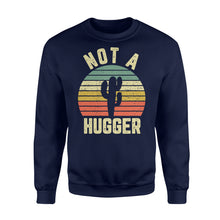 Load image into Gallery viewer, Funny Not A Hugger Cactus - Standard Fleece Sweatshirt Apparel S / Navy