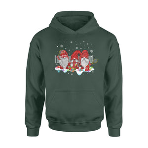Funny Sport Tennis With Gnome Christmas Family and Friends Gnomies - Standard Hoodie Apparel S / Forest