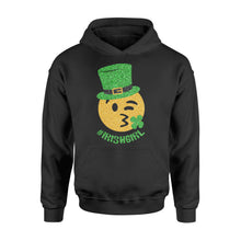 Load image into Gallery viewer, Mens Womens Irish Girl St Patricks Day Paddys Day Shirts - Standard Hoodie Apparel S / Black