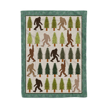 Load image into Gallery viewer, Trendy Bigfoot Walking In The Forest Graphic Blanket Design Sasquatch Believers - Fleece Blanket Home Small (30x40in)