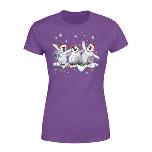 Cute Love Penguin Christmas Xmas Who Loves Penguin And Christmas - Standard Women's T-shirt Apparel XS / Purple