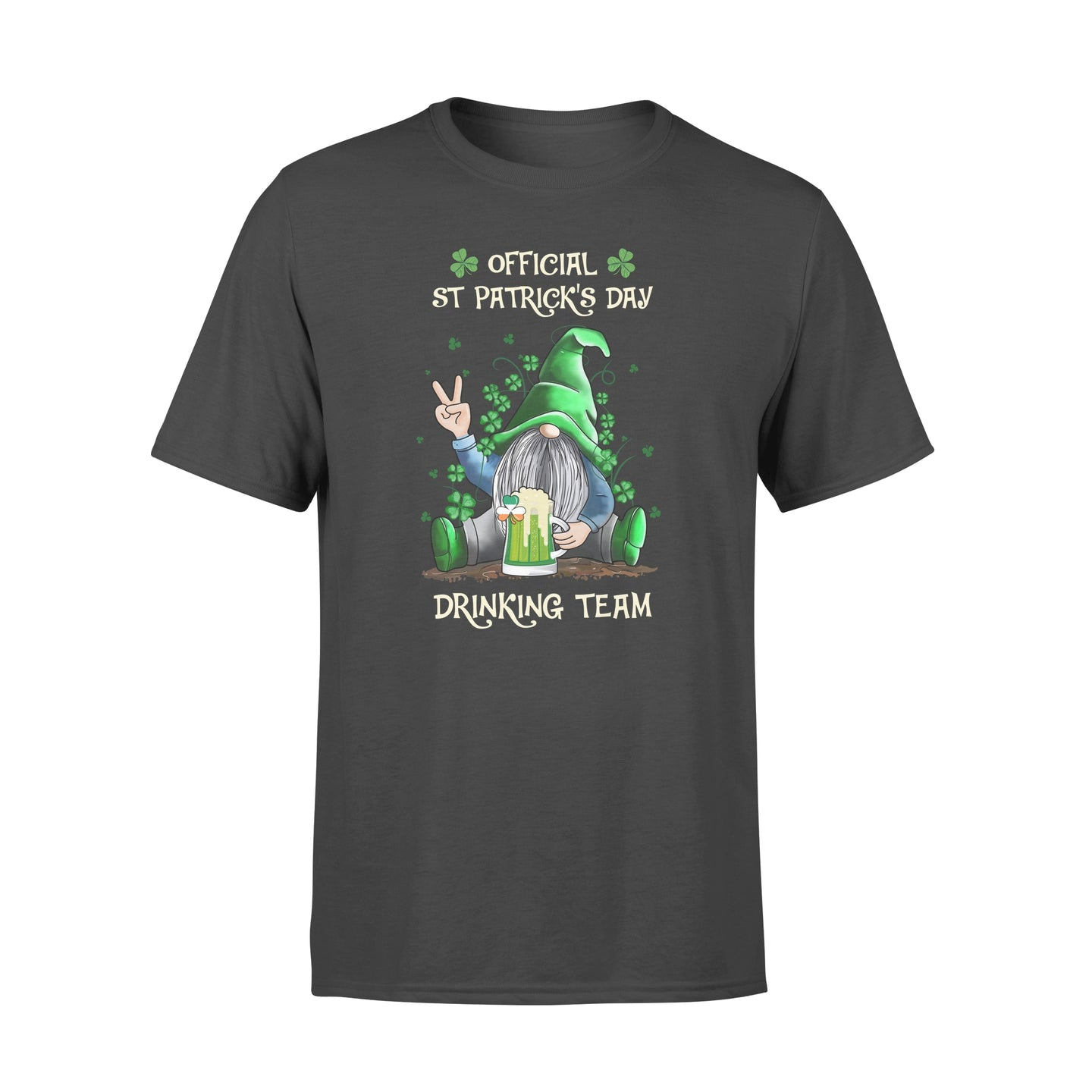 Cool Gnome Drink Beer Team St Patrick's Day Shirt Irish Lucky Shamrock - Standard T-shirt