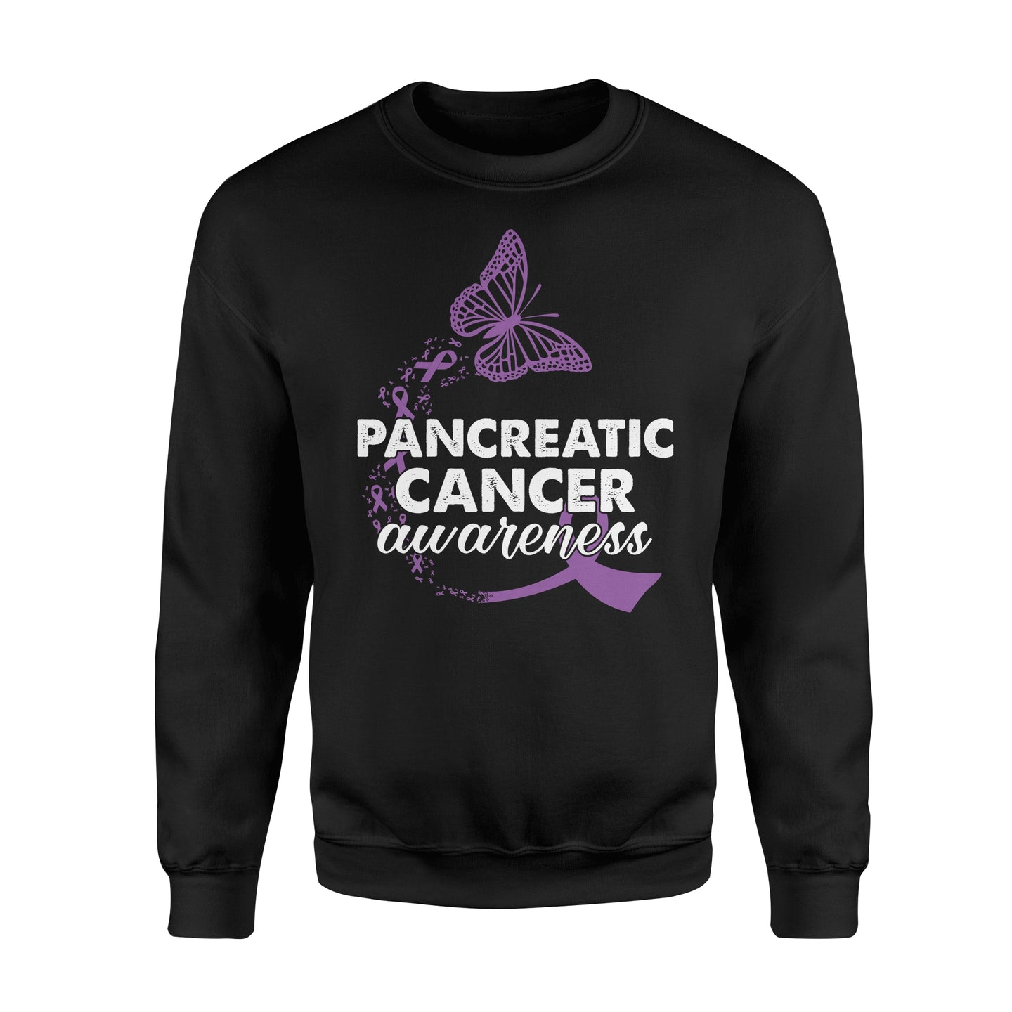 Pancreatic Cancer Awareness - Standard Fleece Sweatshirt Apparel S / Black