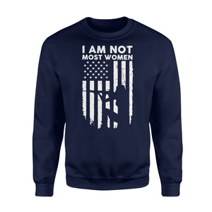 I Am Not Most Women Hunter Girls - Standard Fleece Sweatshirt Apparel S / Navy