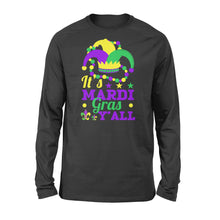 Load image into Gallery viewer, It's Mardi Gras Y'all - Standard Long Sleeve Apparel S / Black