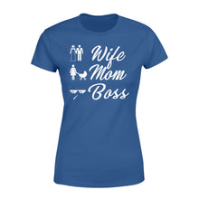 Load image into Gallery viewer, Wife Mom Boss Funny - Standard Women's T-shirt Apparel XS / Royal