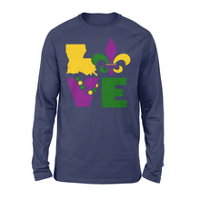 Load image into Gallery viewer, I Love Mardi Gras Holiday - Standard Long Sleeve Apparel S / Navy