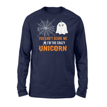 Load image into Gallery viewer, You Can't Scare Me I'm A Unicorn Halloween - Standard Long Sleeve Apparel S / Navy