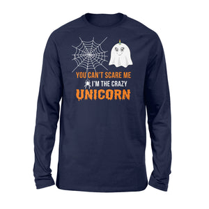 You Can't Scare Me I'm A Unicorn Halloween - Standard Long Sleeve Apparel S / Navy