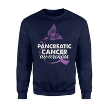 Load image into Gallery viewer, Pancreatic Cancer Awareness - Standard Fleece Sweatshirt Apparel S / Navy