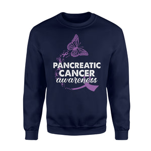 Pancreatic Cancer Awareness - Standard Fleece Sweatshirt Apparel S / Navy