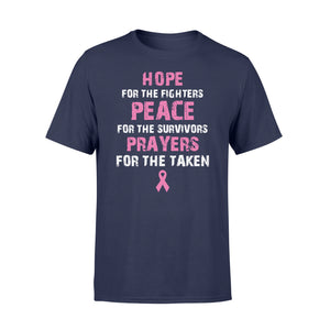 Fighters Peace For The Survivors Prayers For The Taken Cancer - Standard T-shirt Apparel S / Navy