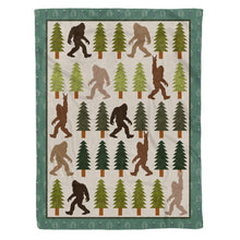 Load image into Gallery viewer, Trendy Bigfoot Walking In The Forest Graphic Blanket Design Sasquatch Believers - Fleece Blanket Home Large (60x80in)