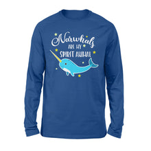 Load image into Gallery viewer, Narwhals Are My Spirit Animal - Standard Long Sleeve Apparel S / Royal