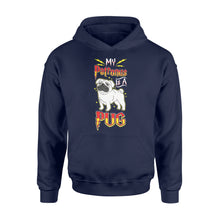 Load image into Gallery viewer, My Patronus Is A Pug Dog Lovers - Standard Hoodie Apparel S / Navy