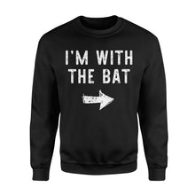 Load image into Gallery viewer, I'm With The Bat - Standard Fleece Sweatshirt Apparel S / Black
