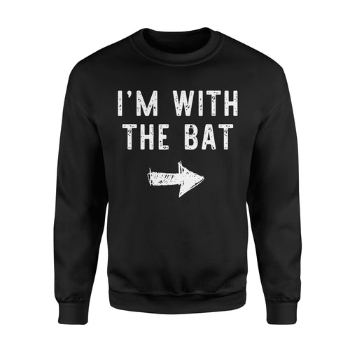 I'm With The Bat - Standard Fleece Sweatshirt Apparel S / Black