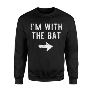 I'm With The Bat - Standard Fleece Sweatshirt