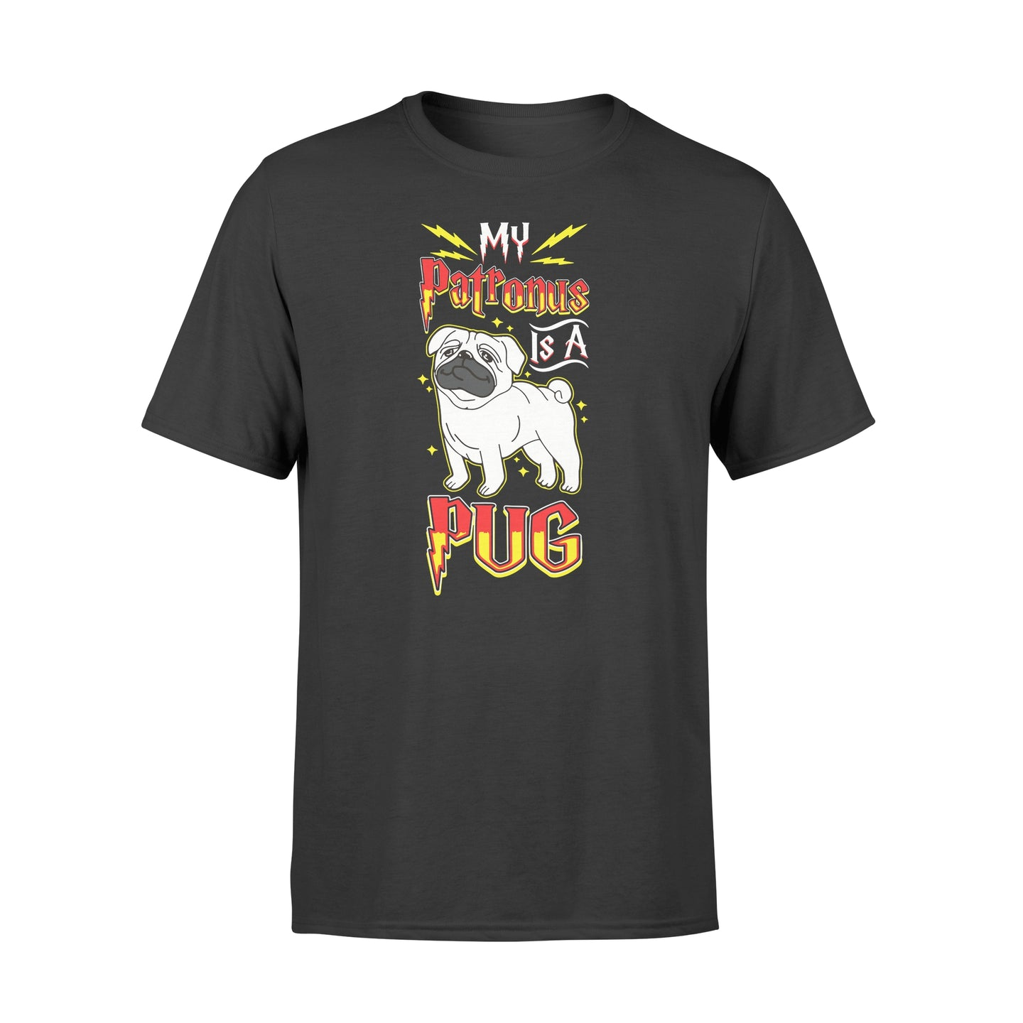 My Patronus Is A Pug Dog Lovers - Standard T-shirt Apparel S / Black