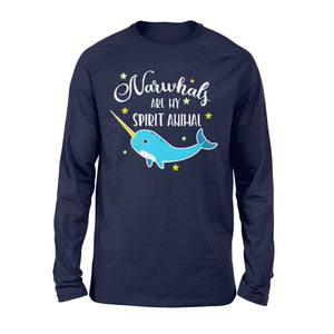 Narwhals Are My Spirit Animal - Standard Long Sleeve Apparel S / Navy