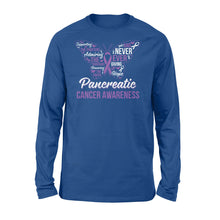 Load image into Gallery viewer, Never Ever Giving Up Hope Pancreatic Cancer - Standard Long Sleeve Apparel S / Royal