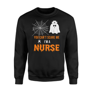 Nursing Halloween You Can't Scare Me I'm A Nurse - Standard Fleece Sweatshirt Apparel S / Black
