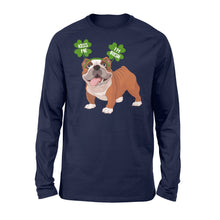 Load image into Gallery viewer, Funny Kiss Me I'm Irish Pug Dog Lovers - Standard Long Sleeve