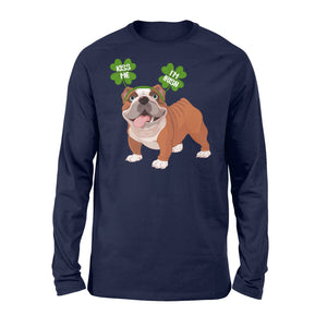 Funny Kiss Me I'm Irish Pug Dog Lovers - Standard Long Sleeve