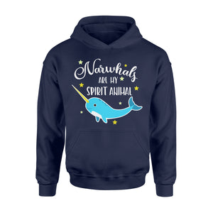 Narwhals Are My Spirit Animal - Standard Hoodie Apparel S / Navy