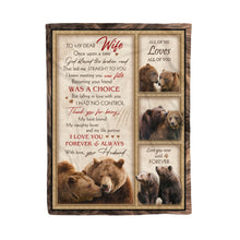 Load image into Gallery viewer, Best Husband For Wife Bear Birthday Blanket Wild Bear Lovers Family Quote - Fleece Blanket