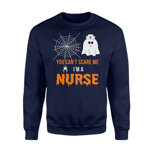 Nursing Halloween You Can't Scare Me I'm A Nurse - Standard Fleece Sweatshirt Apparel S / Navy