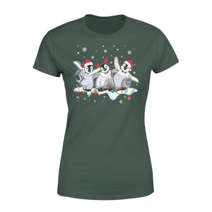 Cute Love Penguin Christmas Xmas Who Loves Penguin And Christmas - Standard Women's T-shirt Apparel XS / Forest