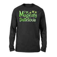 Load image into Gallery viewer, I'm Magically Delicious Irish Day - Standard Long Sleeve Apparel S / Black