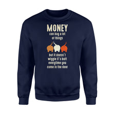 Load image into Gallery viewer, Money Can Buy A Lot Of Things Dog Lover - Standard Fleece Sweatshirt Apparel S / Navy
