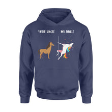 Load image into Gallery viewer, Birthday Your Uncle My Uncle Unicorn Horse - Standard Hoodie Apparel S / Navy