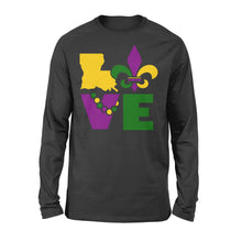 Load image into Gallery viewer, I Love Mardi Gras Holiday - Standard Long Sleeve Apparel S / Black