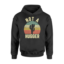 Load image into Gallery viewer, Funny Not A Hugger Cactus - Standard Hoodie Apparel S / Black