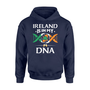 Ireland Is In My DNA Beer Irish Saint Patrick's Day Tee - Standard Hoodie Apparel S / Navy