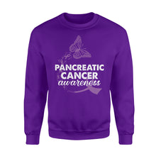Load image into Gallery viewer, Pancreatic Cancer Awareness - Standard Fleece Sweatshirt Apparel S / Purple