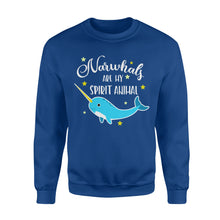 Load image into Gallery viewer, Narwhals Are My Spirit Animal - Standard Fleece Sweatshirt Apparel S / Royal