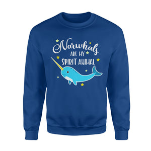 Narwhals Are My Spirit Animal - Standard Fleece Sweatshirt Apparel S / Royal