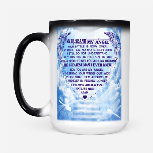 Love Memories Wife Graphic Mug Heart Memorable Husband In Heaven Quote - Color Changing Mug Drinkware 15oz