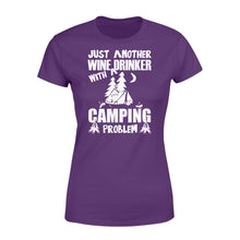 Load image into Gallery viewer, Just Another Wine Drinker Camping Problem Outdoor - Standard Women's T-shirt Apparel XS / Purple