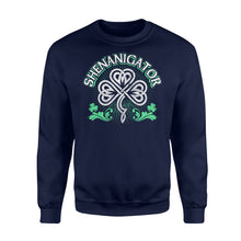 Load image into Gallery viewer, Shenanigator Irish St Patrick's Day - Standard Fleece Sweatshirt Apparel S / Navy