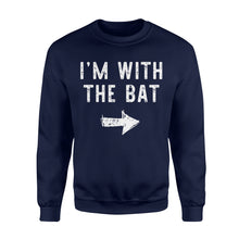 Load image into Gallery viewer, I'm With The Bat - Standard Fleece Sweatshirt Apparel S / Navy