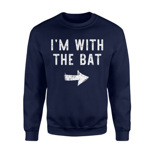 I'm With The Bat - Standard Fleece Sweatshirt Apparel S / Navy
