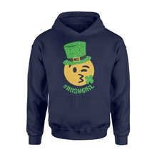 Load image into Gallery viewer, Mens Womens Irish Girl St Patricks Day Paddys Day Shirts - Standard Hoodie Apparel S / Navy