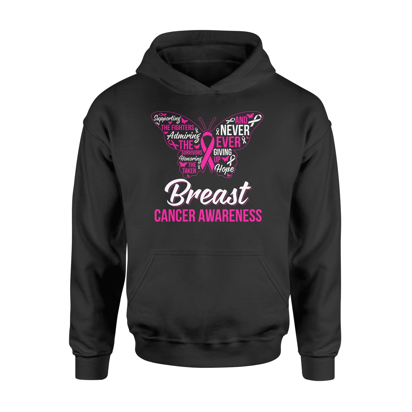 Supporting The Fighters Admiring The Survivors Breast Cancer Awareness - Standard Hoodie