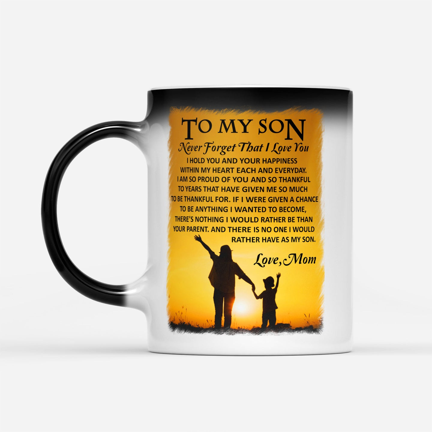 Proud Mom Support Son Graphic Mug Mother Kid Family Love Quote Printed - Color Changing Mug Drinkware 11oz